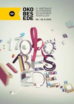 Oko besede 2012 on Behance #print #poster #typography