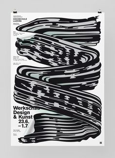 Werkschau 2012 #design #poster #graphic #feixen #felix pfffli #brush stroke #ink