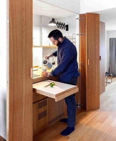 Studio Bazi Create Modern Functional Space from Tiny Apartment - InteriorZine