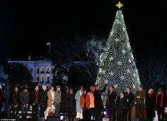 18 Christmas tree on White house