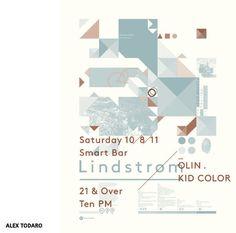 Affiche Lindström with Olin & Kid Color par Alex Todaro #design #poster #screenprint #graphic