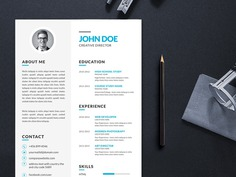 Free Vector Illustrator Resume Template For Your Job Search