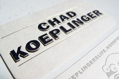 camdiamond #letterpress #gold