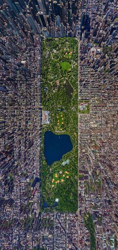 Aerial Photography: New York City Wall to Watch #aerial #city #park #birds #eye #photography #central #york #forest #buildings #new
