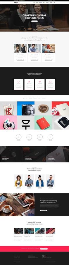 Pofo - #Creative #Portfolio and #Blog #WordPress Theme for #Interactive #Agency by #ThemeZaa