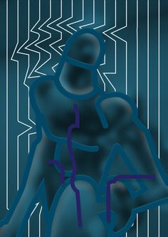 Untitled #abstract #edvard #scott #statue #illustration #man #blue