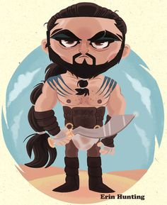 Game_of_thrones_khal_drogo #of #illustration #got #cartoon #game #thrones