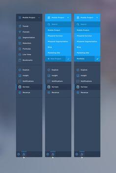Mixpanel_navigation #flat #modern #ui #soft #gui