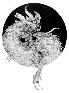 Kaiju 2 Artline - pentel Facebook and Tumblr: Bana's Kingdom #alien #dragon #line #white #movie #black #artline #insect #and #monster #game #kaiju #sci-fi