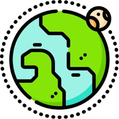 See more icon inspiration related to global, planet, earth, world, space, globe, maps and location, Maps and Flags, miscellaneous, world map, planet earth, geography, astronomy, worldwide and nature on Flaticon.