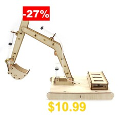 Hydraulic #Excavator #DIY #Science #Education #Toy #Model #for #Kids #- #BURLYWOOD