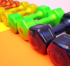 Lifted a Personal Best #photo #weights #photography #fitness #color #bright #hot #physical #gym #crunch #crunch fitness #layout #still life