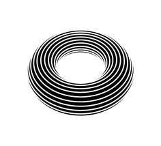 Negativ Donut Art Print #illustration #geometric #vector #donut