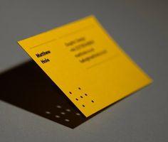 Matthew Hole #lines #business #branding #card #yellow #brand #identity #holes #typography