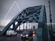 Triangle 2 #steel #north #cloads #uk #road #triangle #rain #newcastle #bridge #east #england