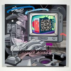 BOOB TUBE - POSE MSK #graffiti #canvas #painting