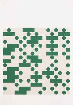 Tauba Auerbach, Morse Alphabet, With Spaces, Creme, Green, 2006 #charts #afterimage #albers #green