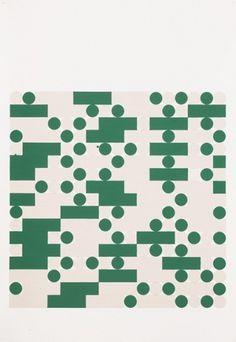 Tauba Auerbach, Morse Alphabet, With Spaces, Creme, Green, 2006