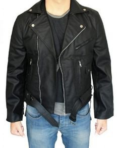 Arnold Schwarzenegger Biker Black Jacket