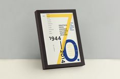 70th anniversary cccw typographic poster 1