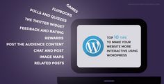 Infographic - 10 tips to make WordPress site more interactive #infographic #10tips #wordpress #interactive