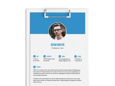 Free Elegant Indesign Resume Template With Clean Layout