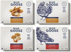 Embalagem para Blue Goose Pure Foods #packaging #food