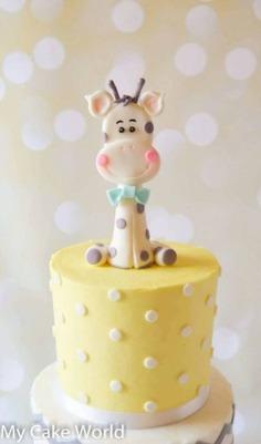 Giraffe Cake Topper, baby shower cake topper, baby giraffe cake topper giraffe baby shower wedding c - baby shower cakes,