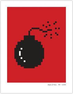 BOMB | Susan Kare Prints #poster #icons #apple