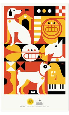 Zeus Jones - Purina ONE beyOnd - Pitchfork - Eight Hour Day #illustration #poster
