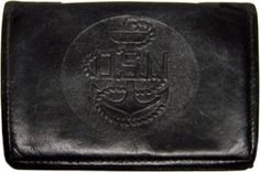 Things from the Navy Days (',')<oh #emboss #wallet #black #leather #navy