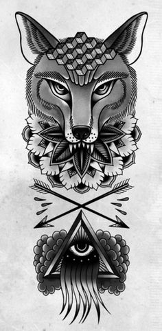 TOM GILMOUR - DESIGN & ILLUSTRATION #mandala #fox #arrows #eye #tattoo