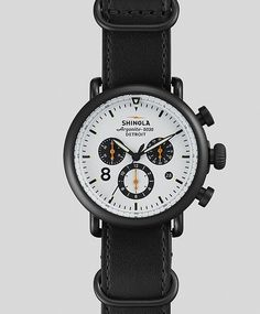 Runwell Contrast Chronograph Watch by Shinola #shinola #black #minimalist #watches #chronograph