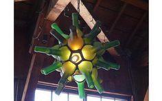 25 Creative Wine Bottle Chandelier Ideas #chandelier #light #wine #bottle