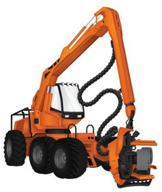 Heavy Machinery on the Behance Network #machinery #illustration #orange #forestry