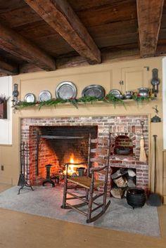 #interior #colonial #kitchen #18thcentury #exposedbeams #beams #hearth