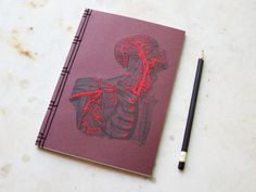 this isn't happiness™ (Embroidery, Anatomically correct), Peteski #cover #notebook #anatomy #embroidery