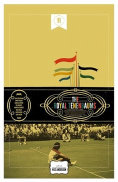 Royal Tenenbaums alternative posters / Cool Stuff / ShortList Magazine #movie #tennis #fail #royal #richi #poster #tenenbaum