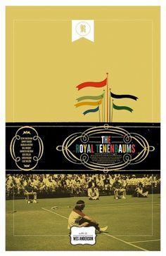Royal Tenenbaums alternative posters / Cool Stuff / ShortList Magazine #movie #tennis #fail #royal #richi #poster #tenenbaum