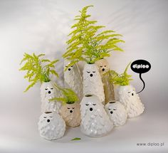 Singing Brownies on the Behance Network #vases #diploo #design #ceramic #funny