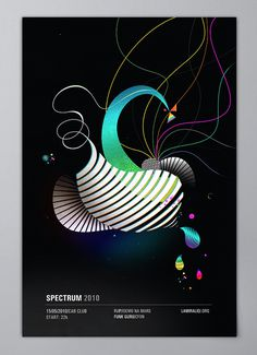 Spectrum / Poster Design on the Behance Network #abstract #design #graphic #illustration #shape #poster #spectrum