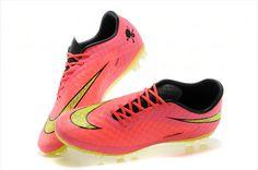 Nike Soccers Hypervenom Phantom AG Crimson Volt Hyper Peach Yellow