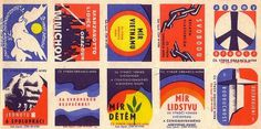 Czechoslovak matchbox labels (uncut sheet) | Flickr - Photo Sharing! #matchbox #labels