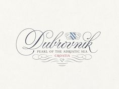 Dubrovnik_large_view #lettering #script #branding