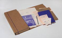 Passport Identity #branding #packaging #print #letterpress #brown #identity #blue #folder
