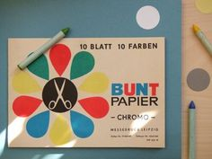 Present&Correct - Buntpapier #illustration #retro #vintage #stationary