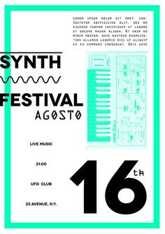 Synth Festival - Jebba #modern #flyer #design #graphic #synth #poster