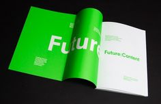 It's Nice That : Future:Content, the publication #editorial #design #graphic #book