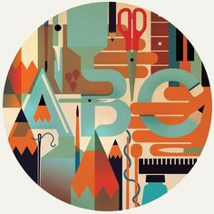 FFFFOUND! #retro #illustration #vintage #pencil #typography