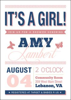 Baby Shower Invite #invite #invitation #print #design #collateral #type #typography